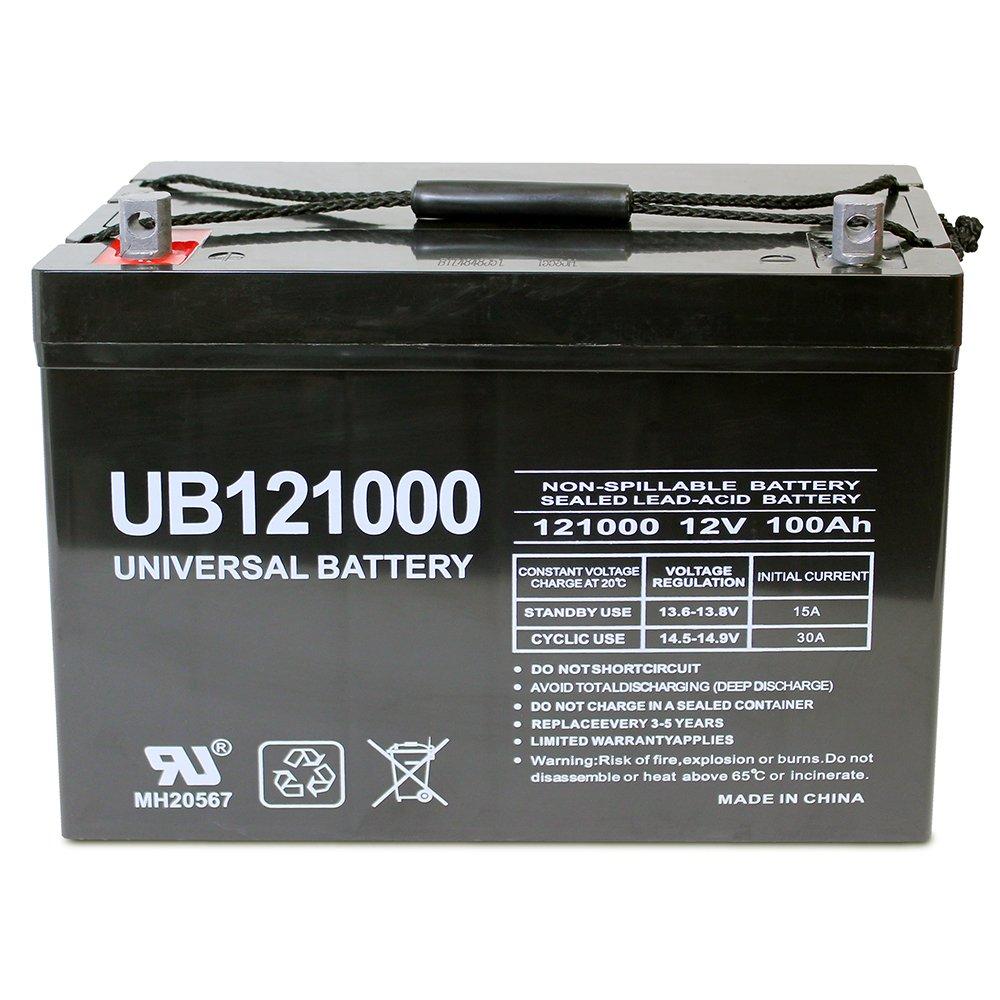 12V 100AH SLA AGM Battery for SUNPOWER PV Solar Panels by Universal Power Group