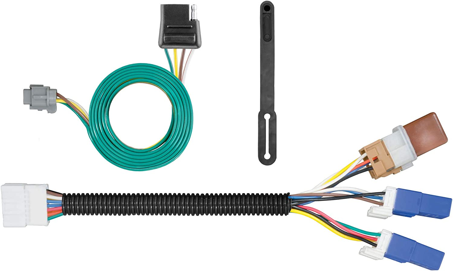 Amazon.com: CURT 56225 Vehicle-Side Custom 4-Pin Trailer Wiring Harness for  Select Nissan Frontier, Pathfinder, Xterra, Suzuki Equator: Automotive | 2014 Nissan Frontier Trailer Wiring Harness |  | Amazon.com