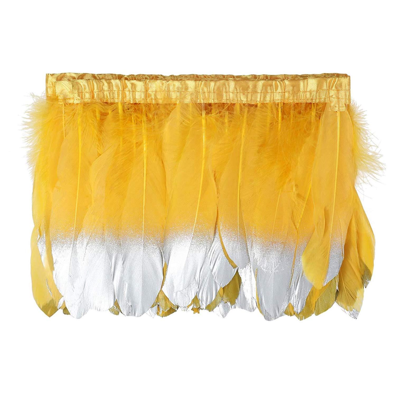 15/~ 20/cm Kolight 1,8/m Naturel teints plumes doie 6/~ 20,3/cm Coupez Frange pour DIY Robe Couture Artisanat D/écoration de costumes bordeaux