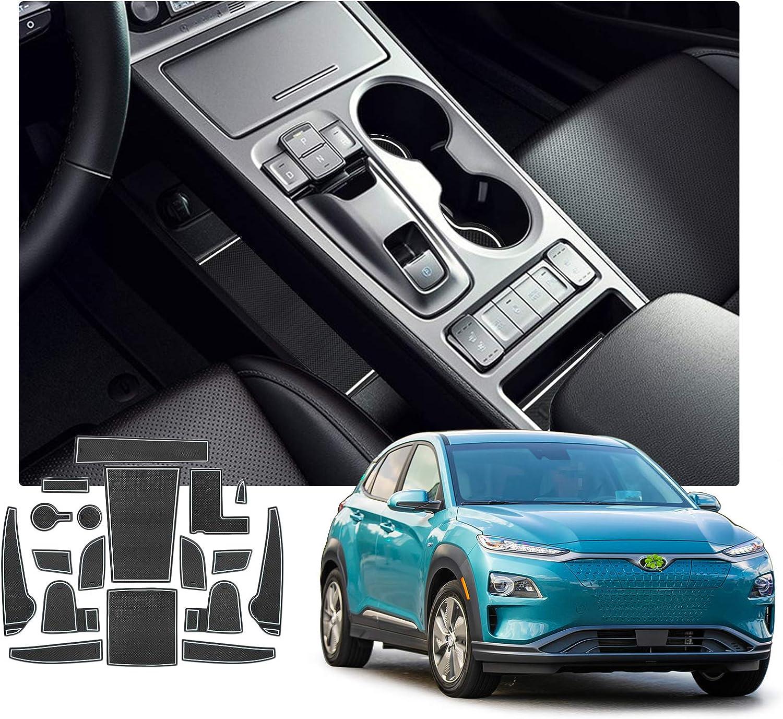 Ruiya Antirutschmatten Gummimatte Auto Innere Mittelkonsole Aus Hochwertigem Latex Geeignet Für Kona Ev Elektro My 2020 Weiß Auto