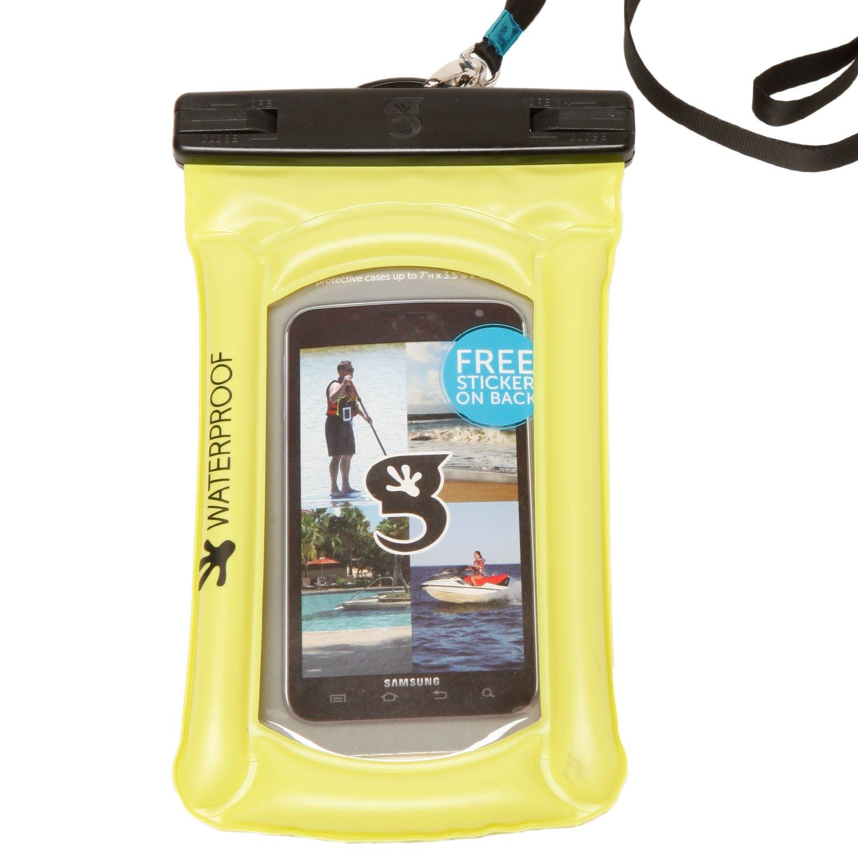 geckobrands Float Phone Dry Bag, Green, Bright Green