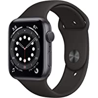 New Apple Watch Series 6 (GPS, 44mm) Space Gray Aluminum Case - Black Sport Band