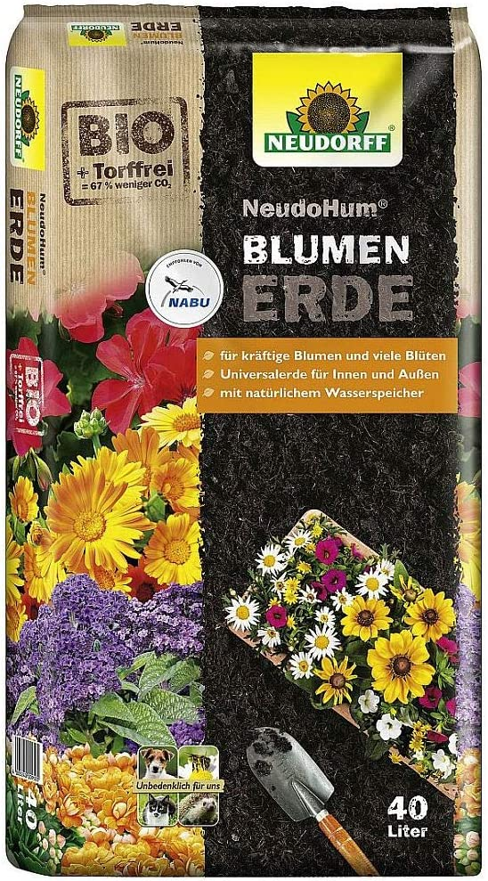 Neudorff NeudoHum BlumenErde 40 Liter Sack Pflanzerde