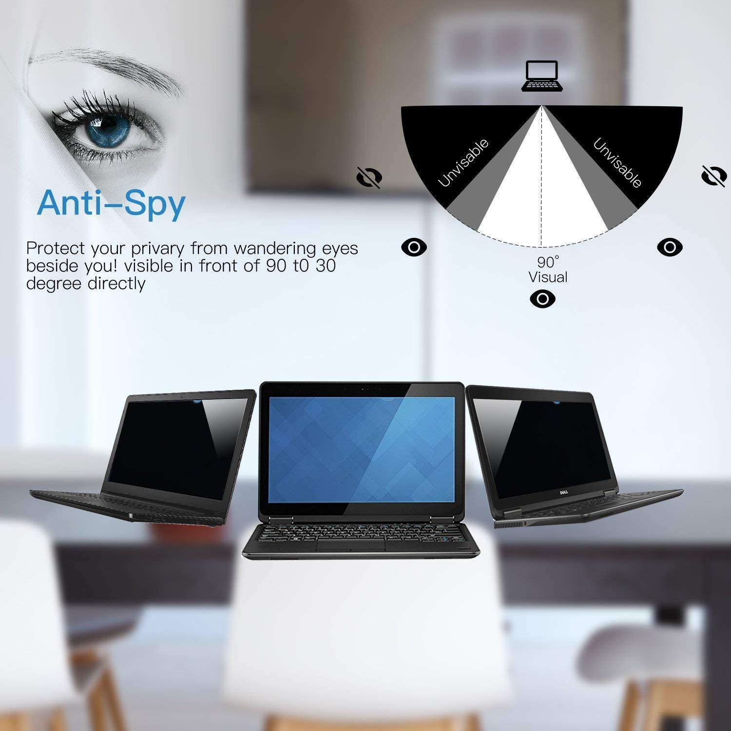 12.516: 9 Yoght Port/átiles Notebook Computer Monitor Privacy Screen Filter