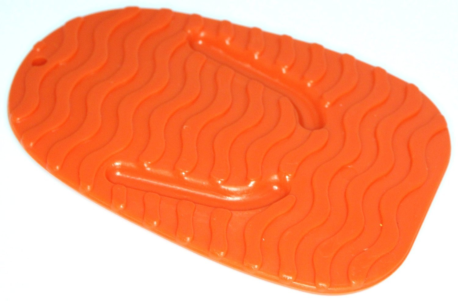 PLASTIC MOTORCYCLE KICKSTAND PLATE BIKERS KICK STAND PAD ORANGE