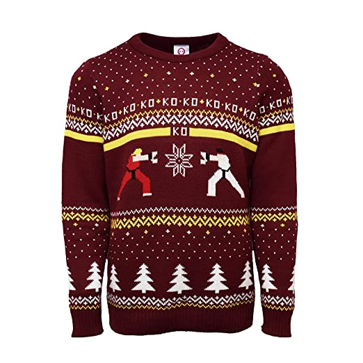 Street Fighter Official Ken Vs Ryu Christmas Jumperugly Sweater