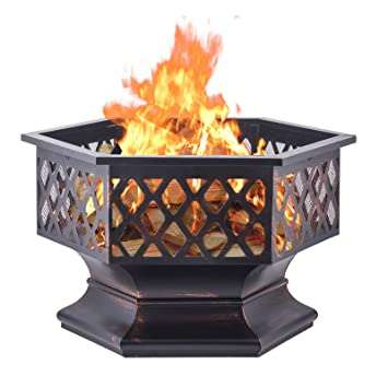 Amazon.com: Diamondgift Fire Pit - Estufa de madera para ...