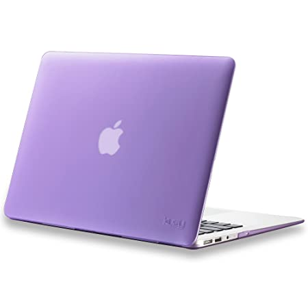 Kuzy 628586884427 13 inch Rubberized Hard Case Cover for Apple MacBook Air  Purple  Laptop Sleeves   Slipcases