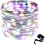 CrazyFire 33ft/10m Starry String Light, 100 LED Copper Wire Star Fairy Light DIY Home Decorative Light with DC Power Adapter for Indoor Christmas Halloween Party Wedding Patio Garden-Multicolor Light
