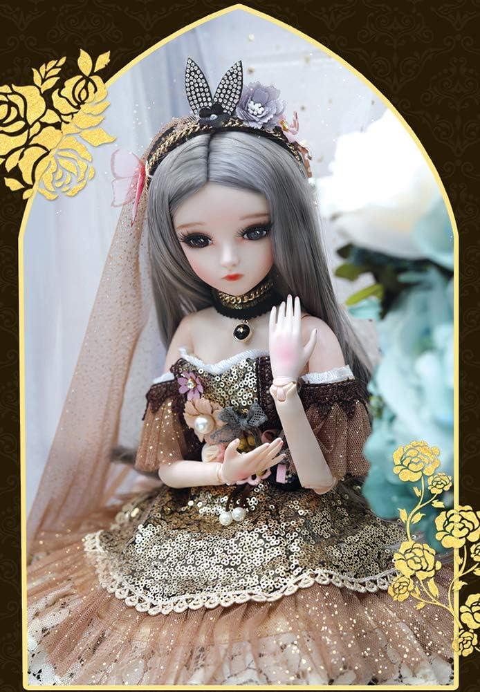 LUSHUN SD Doll Ball Jointed Doll Poupee BJD Doll 1/3 avec Tous Les Vêtements Tenue Chaussures Perruque Cheveux Maquillage Cadeau Collection D