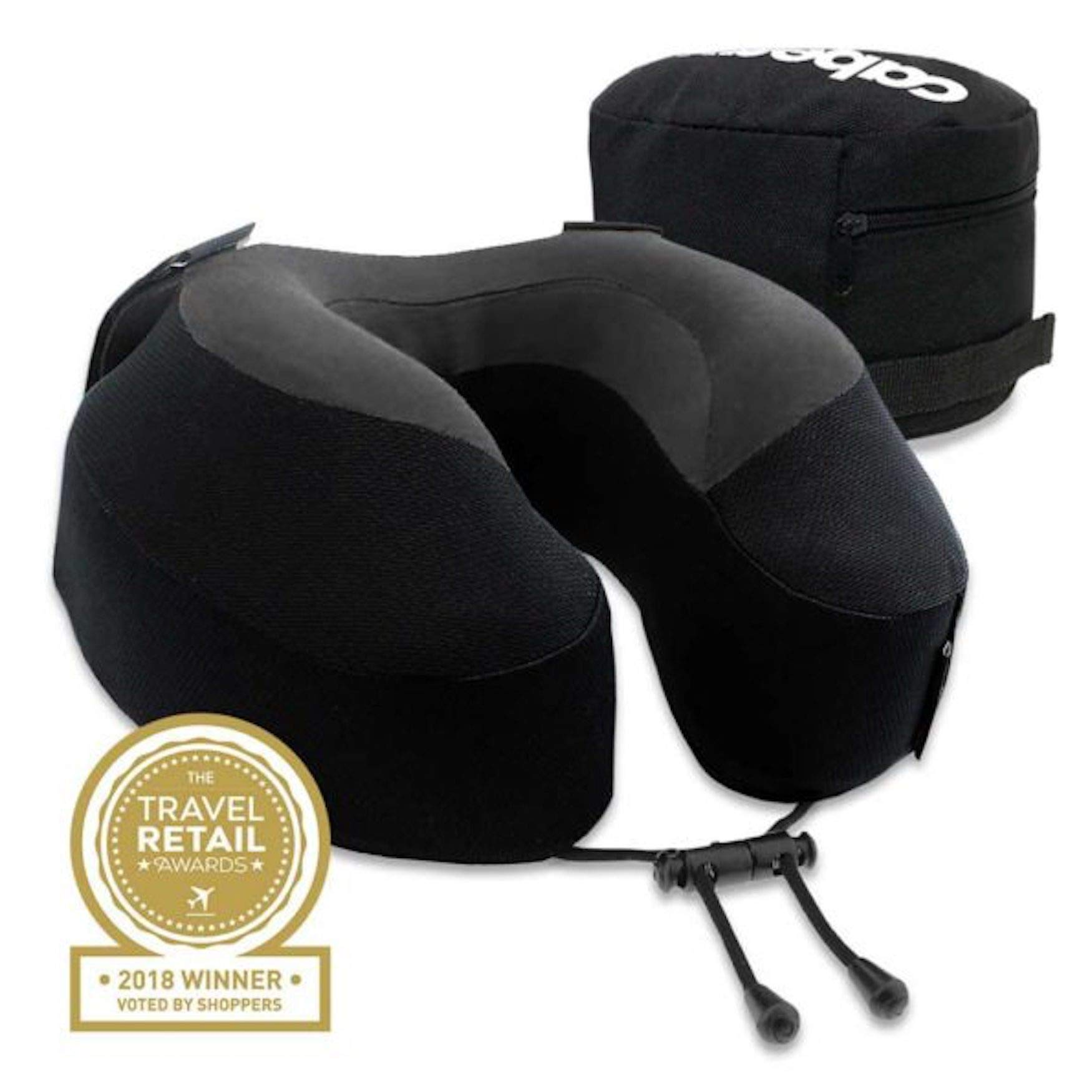 Cabeau Evolution S3 Travel Pillow - Straps to Airplane Seat - Ensures Your Head Won't Fall Forward - Relax with Plush Memory Foam - Quick-Dry Fabric - Secure Head and Neck Support