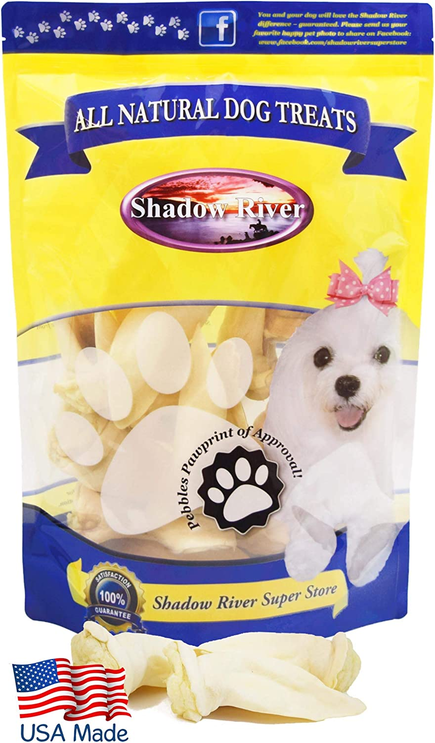 Premium All Natural Treats 10 Pack Extra Small Size Ears Shadow River Lamb Ear Chews for Dogs