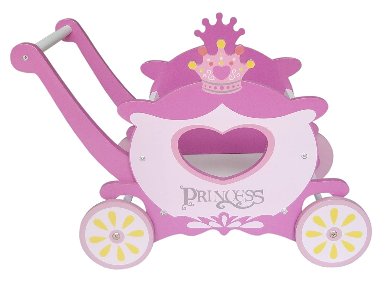 Kiddi Style Children's Princess Carriage Trolley Walker Toy Box Push Along Bebe Style PRNC-1CRG