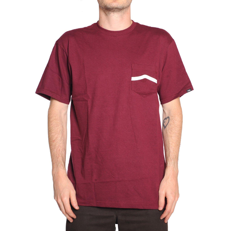 749d840664211a Vans Side Stripe (Burgundy) Pocket T-Shirt