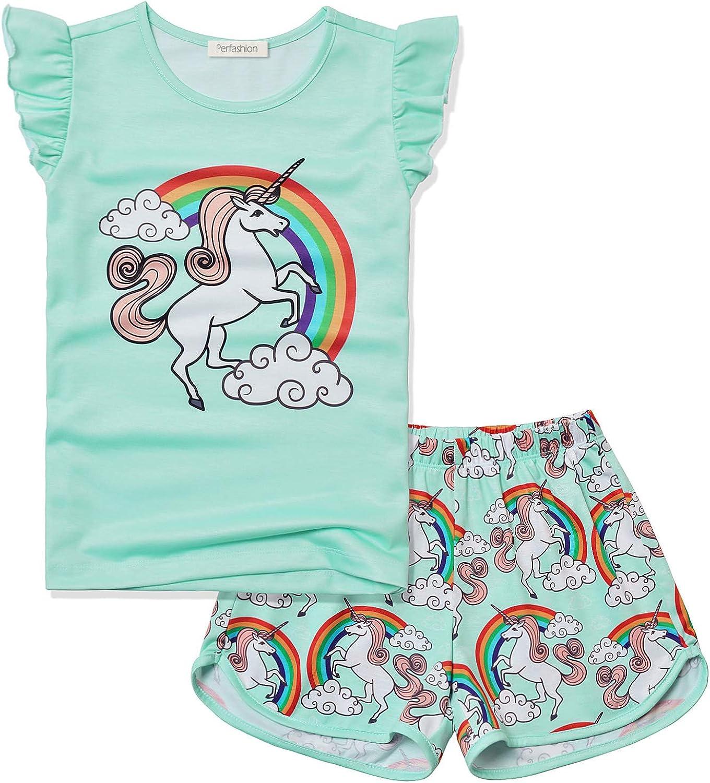 Girls Unicorn//Butterfly//Cat Pajamas Cotton Set PJS 2 Pieces Sleepwear