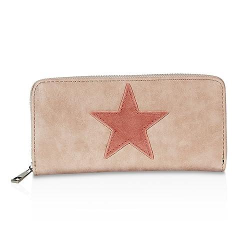 glamexx24 geldbrse mit stern muster portemonnaie vintage design brieftasche geldbeutel - Stern Muster