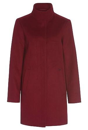 Mantel mit stehkragen rot