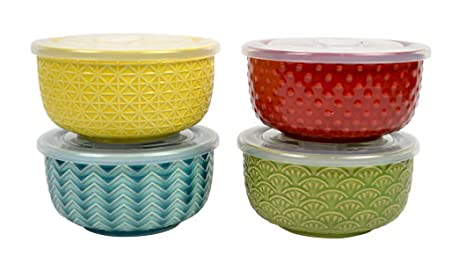 Amazoncom Reusable Multicolored 5 Inch Ceramic Serving Bowls With