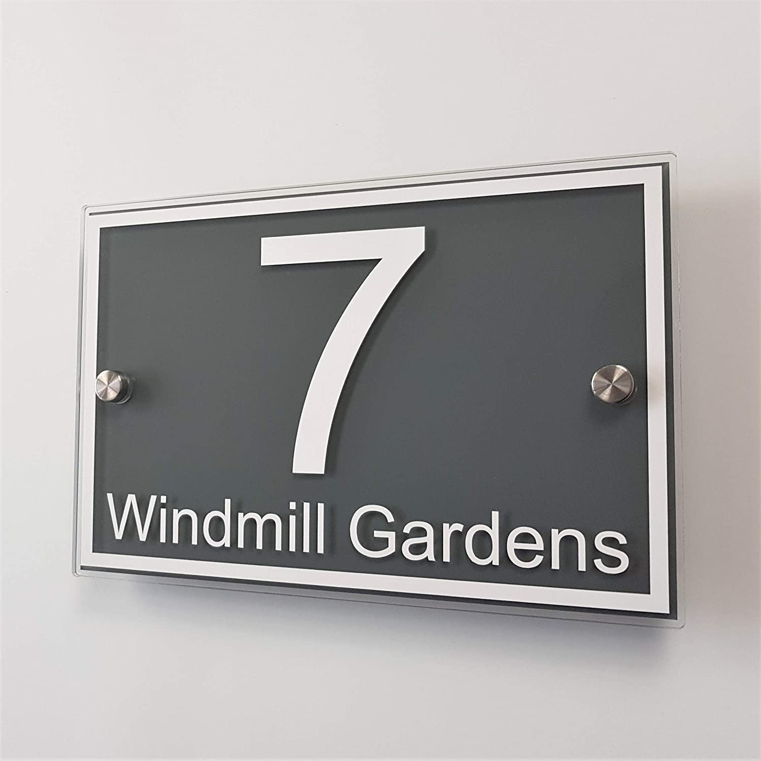 MODERN OVAL HOUSE NUMBER PLAQUE DOOR SIGN ADDRESS PLATE BUISNESS PROPERTY