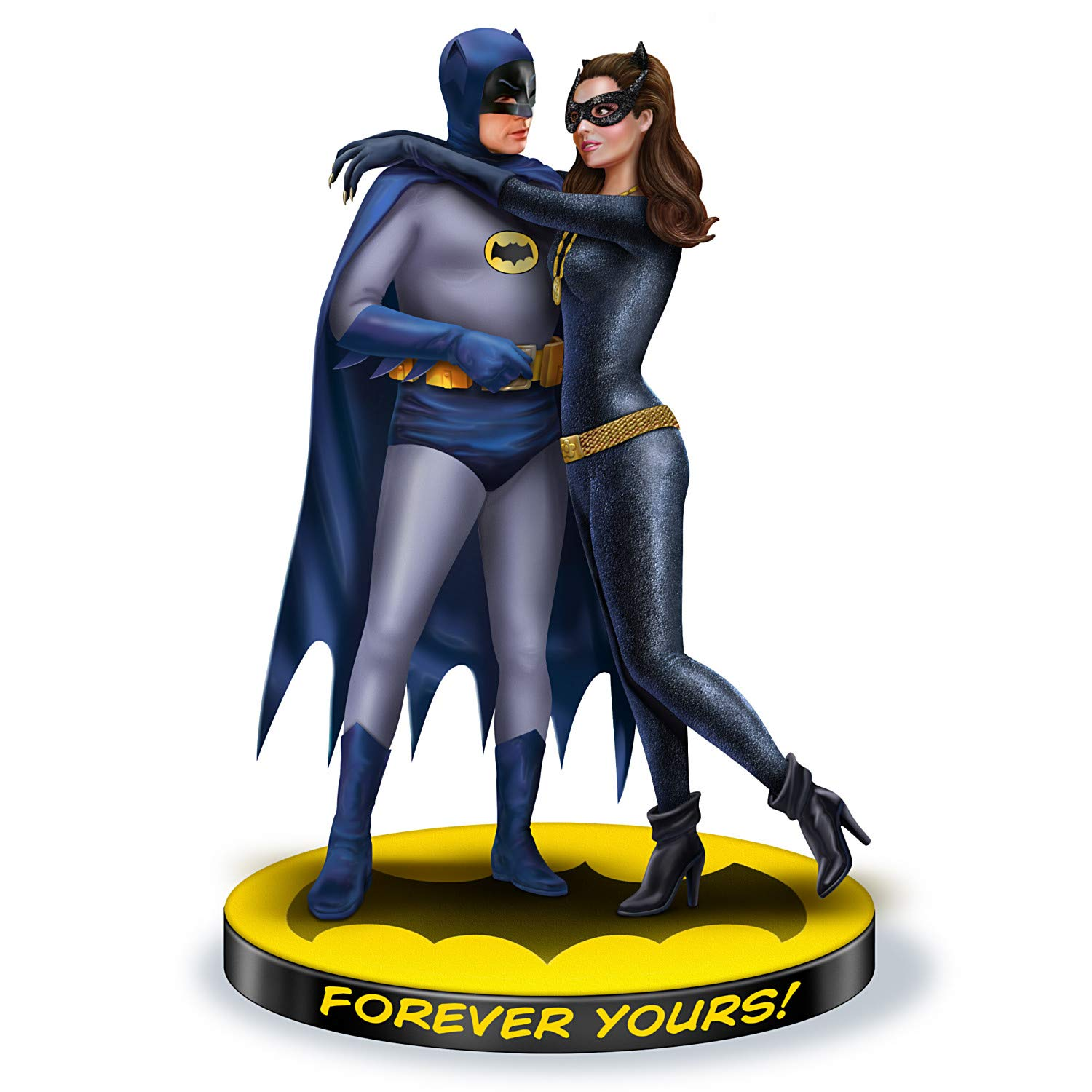 The Hamilton Collection Warner BROS. Forever Yours: Batman and Catwoman Hand-Painted Sculpture