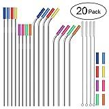 Stainless Steel Straws,Set of 16 FDA-Approved Reusable Drinking Straws for 30oz&20oz Tumbler, 10.5