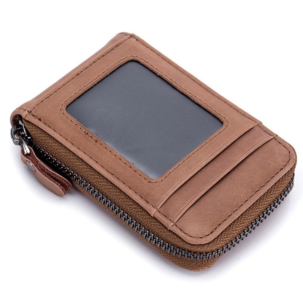 Rfid Blocking Credit Card Holder Wallet, Estwell Genuine Leather Business Card Case Purse for Men Women