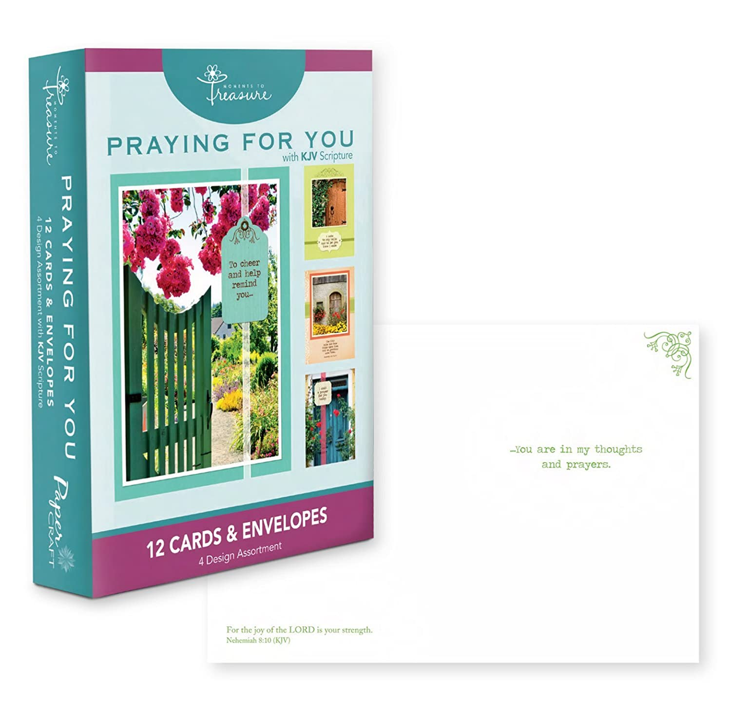 Amazon 12 Count Boxed Praying For You Cards Bulk with KJV