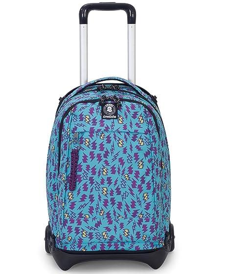 selezione premium 377e7 e1da3 TROLLEY INVICTA - PLUG - Azzurro Viola - Zaino SGANCIABILE e LAVABILE -  Scuola e viaggio 35 LT