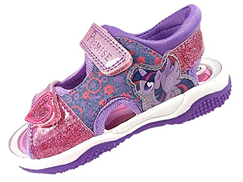 aed20798393c Girls My Little Pony Pink   Lilac Glitter Sport Sandal Beach Walking Childrens  Shoes UK Size
