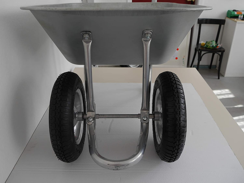 Multila L Extra Thick Bath 2-Wheel Wheelbarrow with Pneumatic Wheel With Steel Rim
