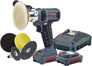 Ingersoll Rand G1621 IQV12 Polisher/Sander, Kit with tool/charger/2 batteries/accessory kit