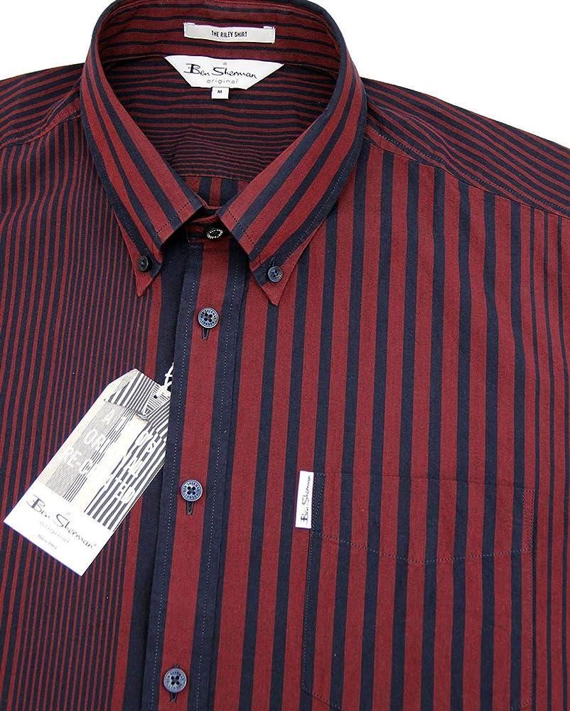 Ben Sherman Short Sleeve Riley Archive Shirt Rust-S: Amazon.es: Ropa y accesorios