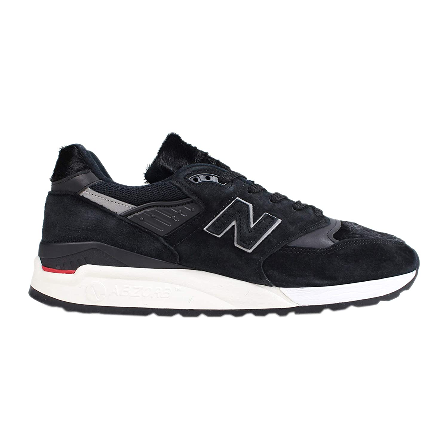the best attitude 6ae9e 8734f New Balance Made in The USA 998 Black Faux Fur Trainers ...