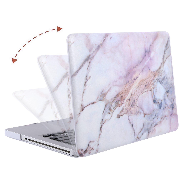 MOSISO Funda Dura Compatible Old MacBook Pro 13 Pulgadas con CD-ROM A1278 M/ármol Verde Blanco Carcasa R/ígida Protector de Pl/ástico Cubierta Versi/ón 2012//2011//2010//2009//2008