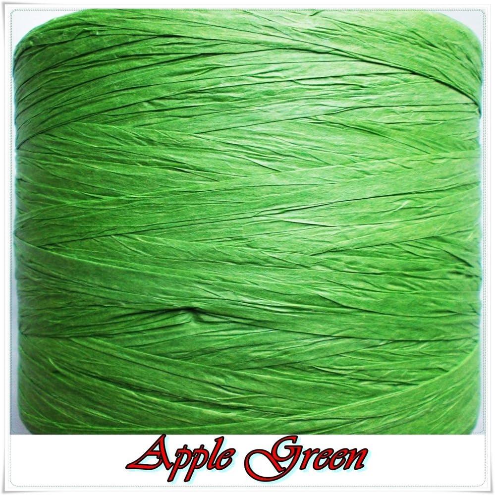 Turquoise ECO Raffia Ribbon 22 Colours 30m Long 1cm Wide