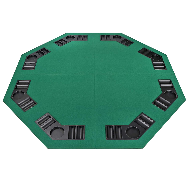 Smartxchoices 48インチ 折りたたみ式ポーカーテーブルトップ、ポータブルラウンドグリーン八角形レイアウト- カジノプレイヤー8個 - Smartxchoices ブラックジャックカードゲームポーカーテーブルトップ 48インチ キャリーケース付き B07JWBM4ZP B07JWBM4ZP, フラガリア商店:65c765c2 --- 2017.goldenesbrett.net