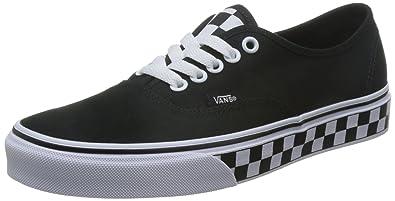 7c625d2a24a49d Vans Unisex Authentic (Checker Tape) Checker Tape Black White Skate Shoe 7