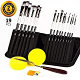 Paint Brushes for Acrylic Painting,Acrylic Paint Set: 16Pcs Different Shaped Oil Paint Brushes+Oil Painting Knife +2Pcs…