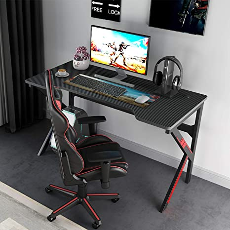 Sogespower Gaming Desk 47 Inches Modern Computer Desk Gamer Tables Splj 1909 120 Ca Amazon Ca Home Kitchen