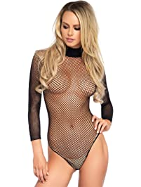 Leg Avenue Fishnet High Neck Bodysuit