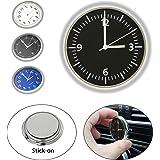 EEEKit Universal Pocket Mini Leuchtende Quarz Analoge Uhr Stick-On Uhr f/ür Auto Boat Bike Home