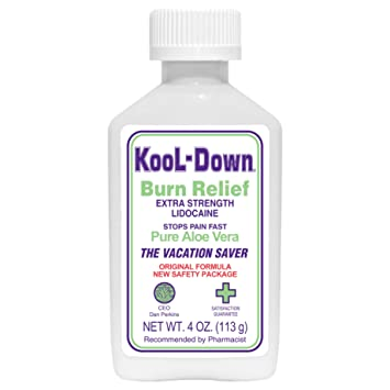 Amazon com: KooL-Down (4 oz) 3 9% Lidocaine Pain Relief Cream