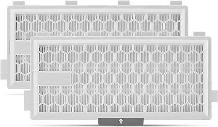 2x comp. De filtro HEPA Supremery. para filtro aspirador Miele SF-HA 50 con carbón activado contra olores para S8000 S6000 S5000 serie S4000 Completo C2 C3 Compacto C1 C2 S8340 S6240 S5211: