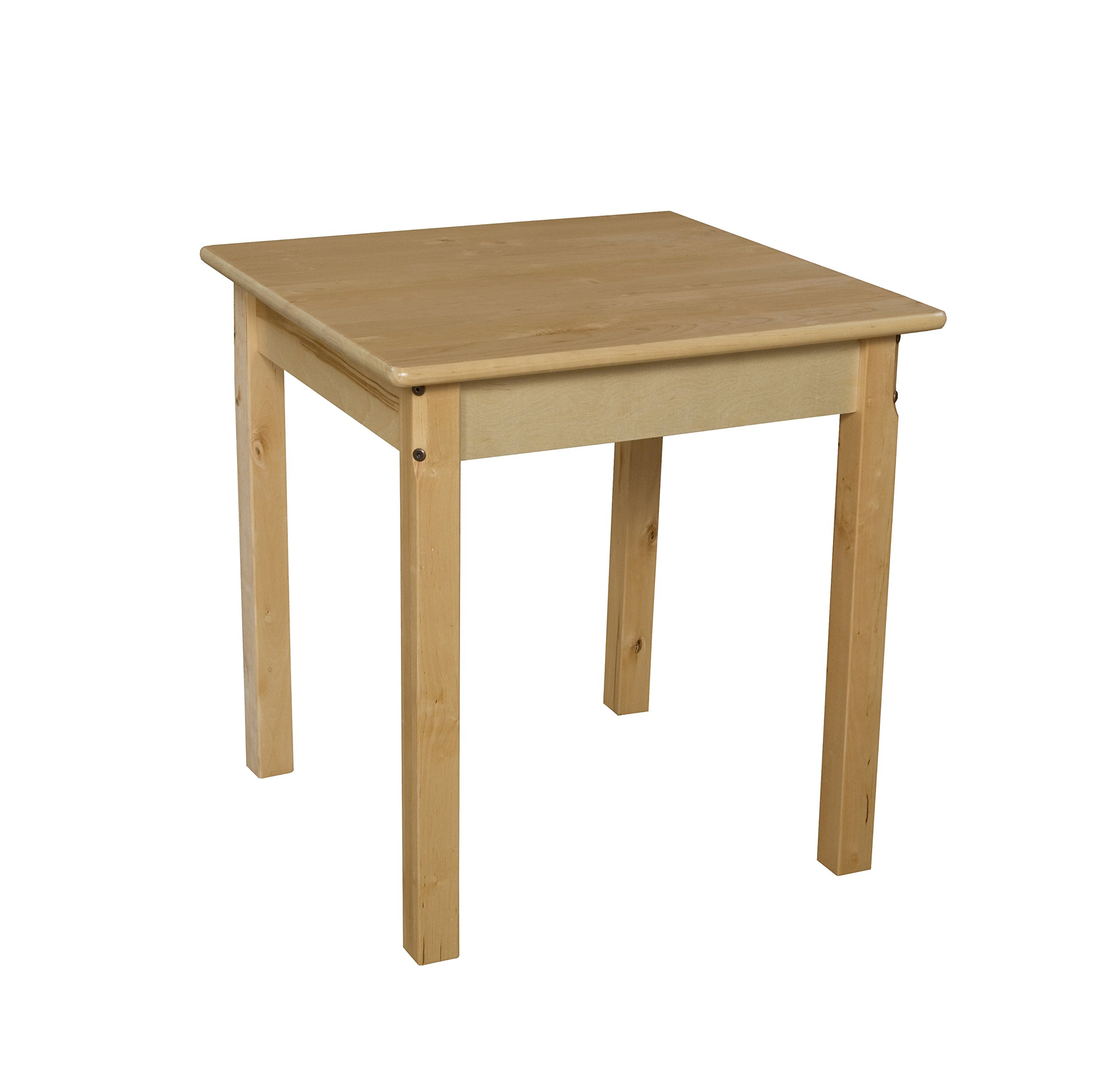 Wood Designs WD82424 Child's Table, 24'' Square with 24'' Legs