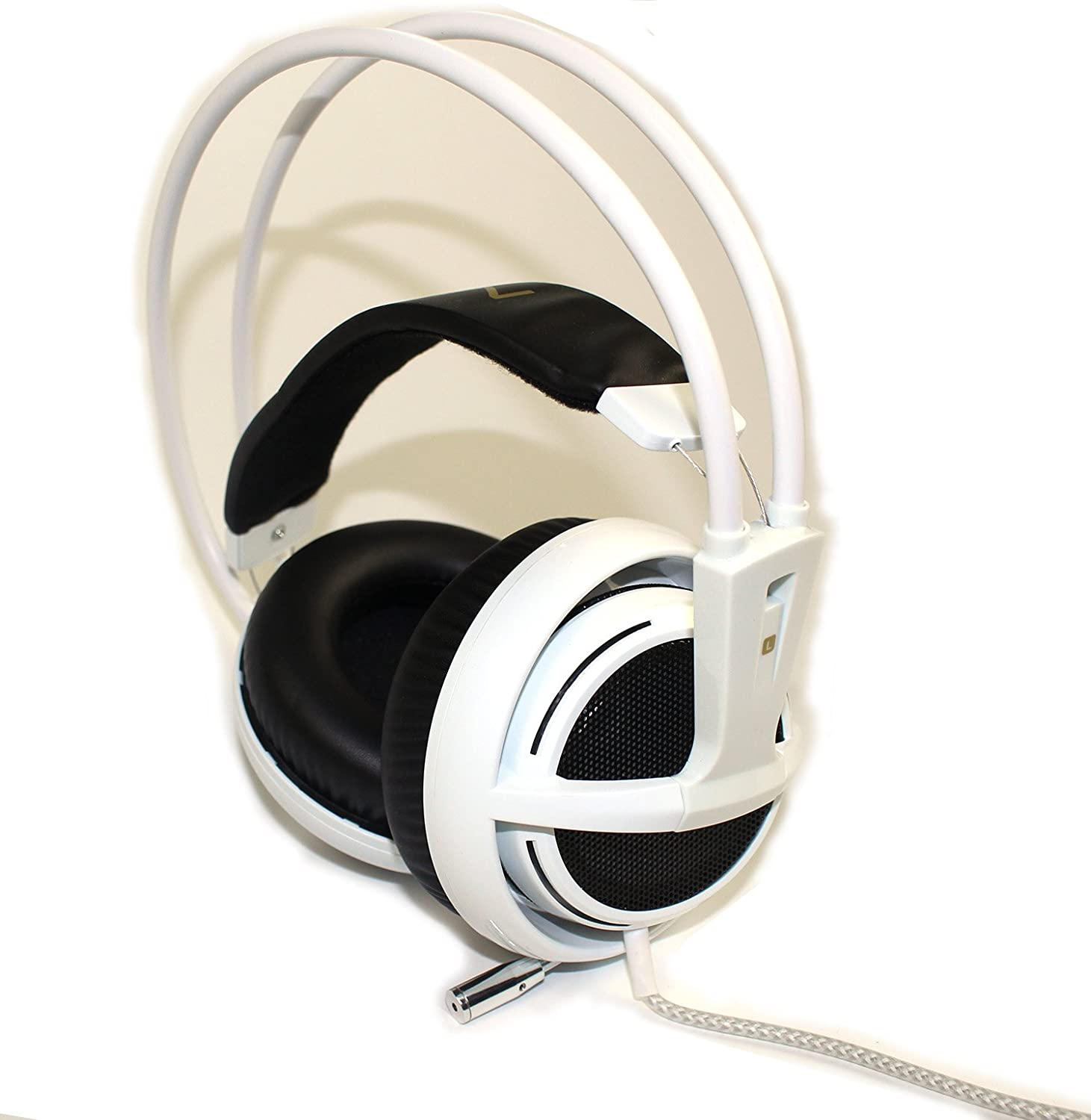 HaoYiShang Auriculares V2 Siberia Full Size 3.5mm USB Wired Stereo Gaming Headset with Built-In USB Sound Card and Microphone