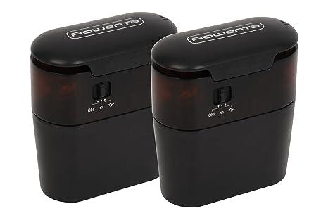 Rowenta ZR704001 Juego De 2 Barreras Virtuales Para Aspiradora Robot, Plástico, Negro