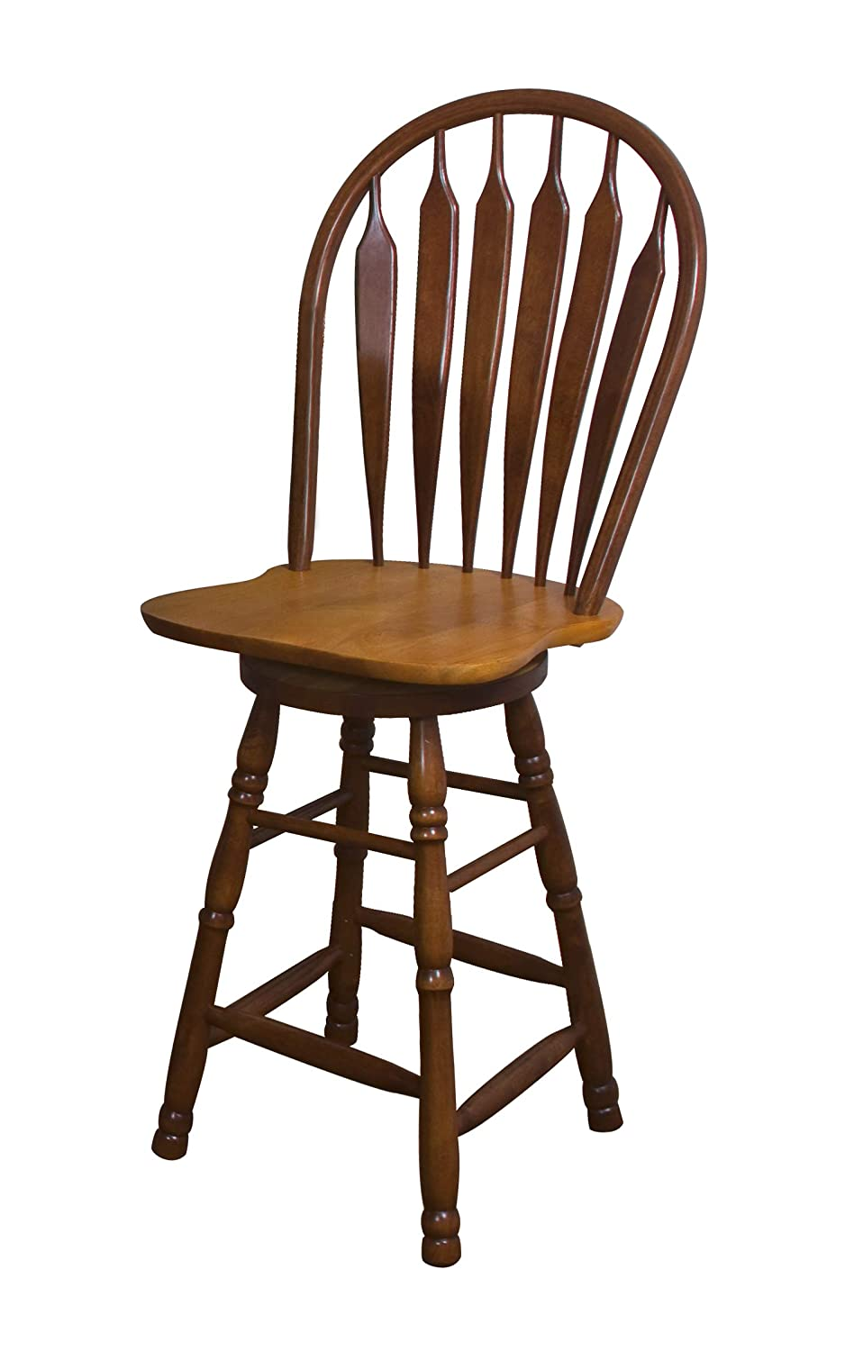 Sunset Trading DLU-B30-NLO Oak Selections Barstool Nutmeg and Light