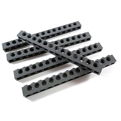 """'5 pieza Lego Technic """"Piedra 1 x 14 con agujeros en nuevo de color gris oscuro.: Juguetes y juegos"""