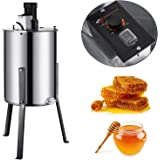 Happybuy Extraction Honeycomb Drum Spinner Beekeeping Equipment with Strainer, 3 Frame, Electric Honey Extractor