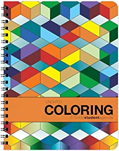 Action Publishing UNDATED Coloring Student Agenda · Weekly & Monthly Planner, Goals and Assignment Tracking · Best For 6th – College · Large (8.5 x 11 inches)